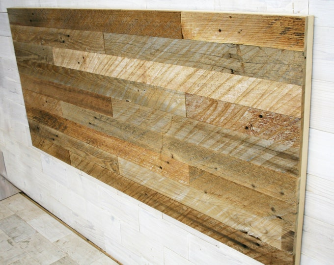 Barn Wood Hanging Headboard Panel | all bed sizes | Texture Staggered Design