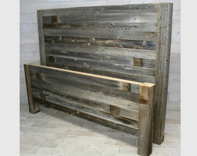 Barn Wood Headboard & Footboard | all bed sizes | Texture Horizon Design