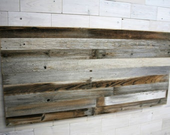 Barn Wood Hanging Headboard Panel | all bed sizes | Texture Horizon Design