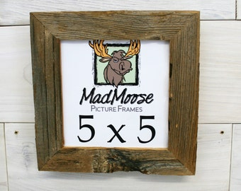 """5x5 BarnWood Picture Frame Classic-1.25"""""""