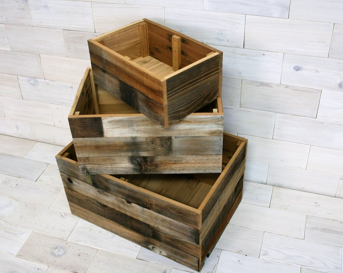 Barn Wood Storage Box | choose your size