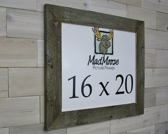 """16x20 Barn Wood Picture Frame - Classic 3"""""""