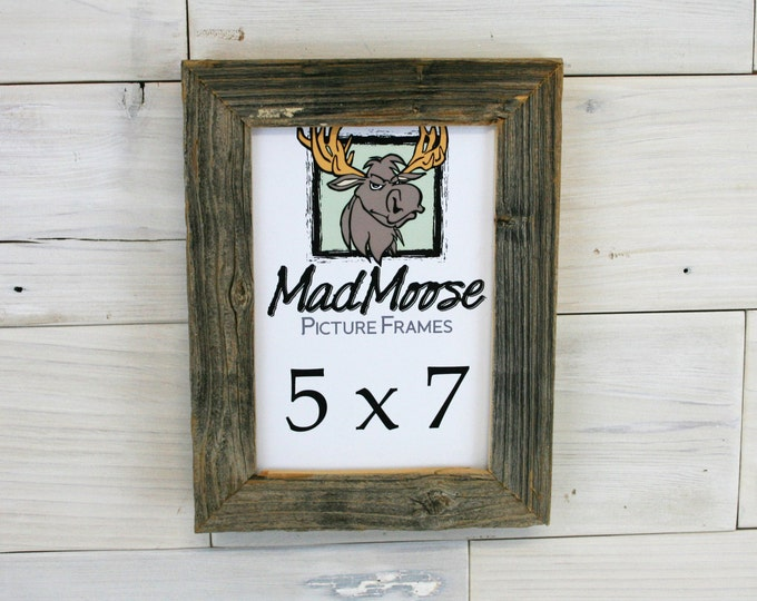 """5x7 Barn Wood Picture Frame Classic-1.25"""""""