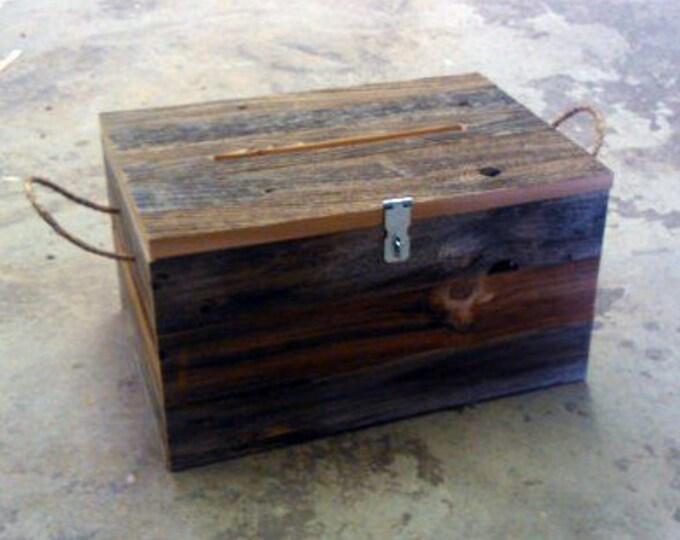 "Barn Wood Wedding Card Box 16"" x 12"" x 10"""