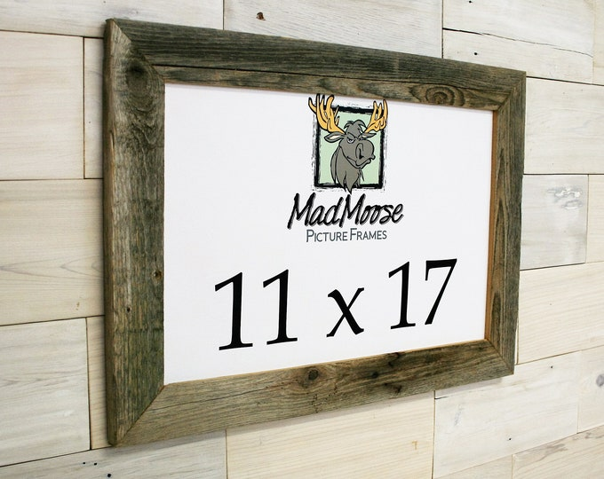 11x17 Barn Wood Picture Frame - Classic 2""