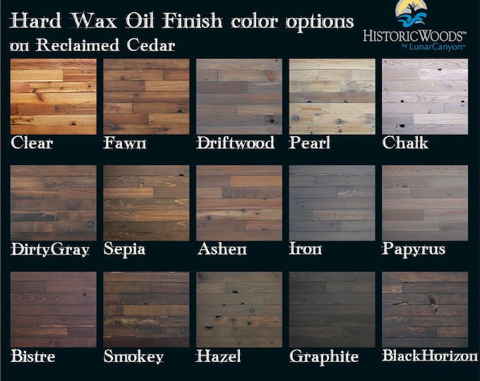 Reclaimed Cedar Finish Color Sample