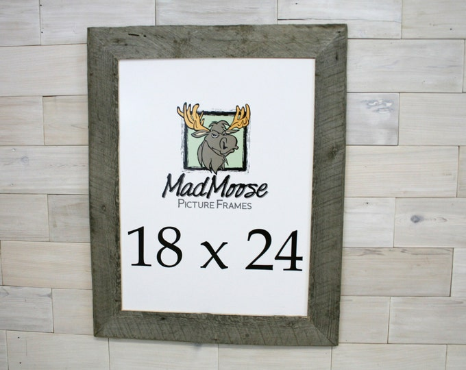 """18x24 BarnWood Picture Frame - Classic 3"""""""