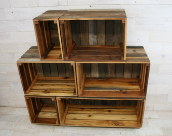 Wooden Milk Crate Etsy