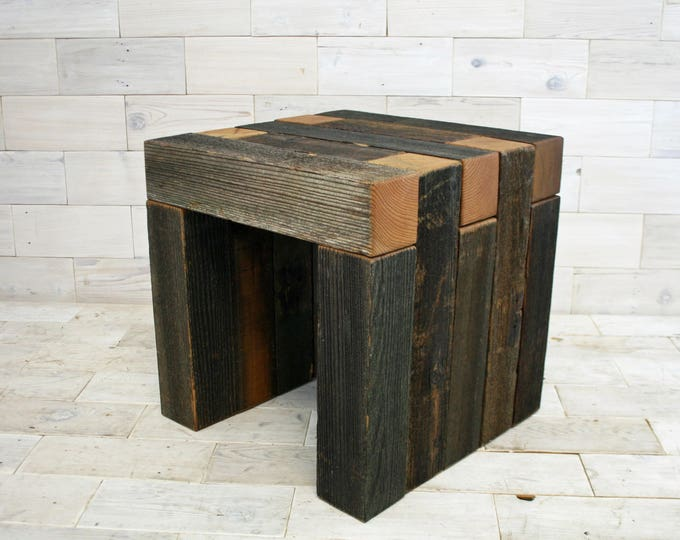 "Barn Wood Box Joint Chair 18"" x 18"" x 18"""