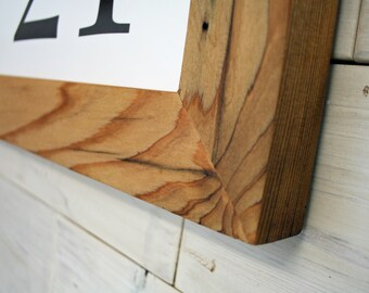 """Reclaimed Wood Picture Frame - Classic 2"""" 