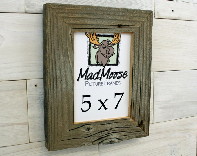 """5x7 BarnWood Picture Frame Classic-2"""""""