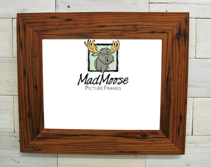 """11x17 Reclaimed Redwood Picture Frame - Classic 3"""""""