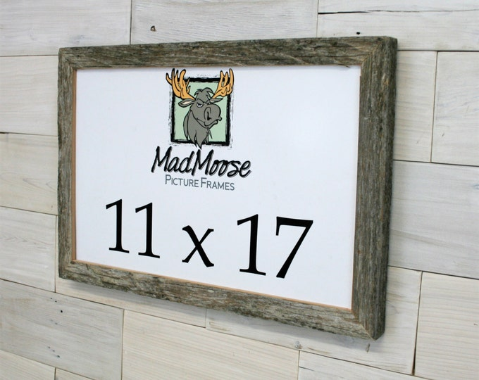"""11x17 BarnWood Picture Frame - Classic 1.25"""""""