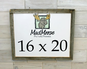 """16x20 Barn Wood Picture Frame Classic-1.25"""""""