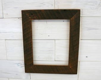 """Antique Oak Picture Frame - Classic 2"""" 