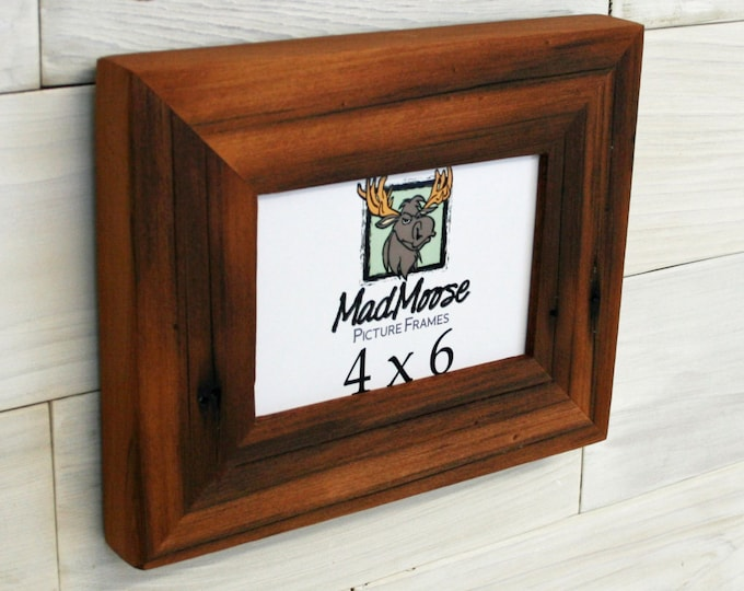 4x6 Reclaimed Redwood Picture Frame - Classic 2""