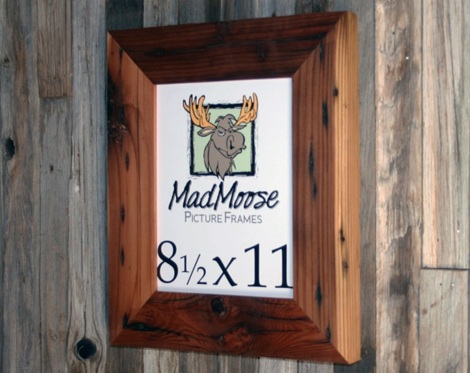 """8.5x11 Reclaimed Redwood Picture Frame - Classic 3"""""""