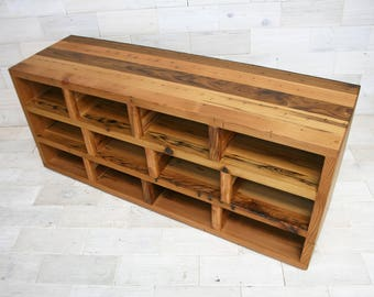 Reclaimed Wood Shoe Storage Bench | Passage Design