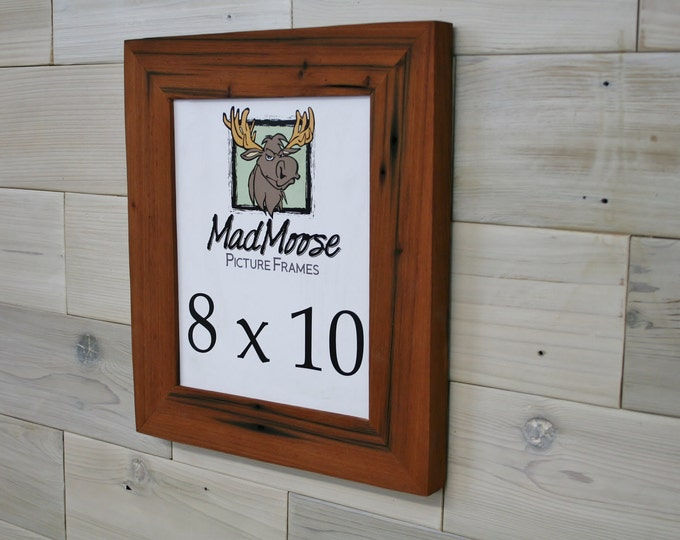 """8x10 Reclaimed Redwood Picture Frame - Classic 2"""""""