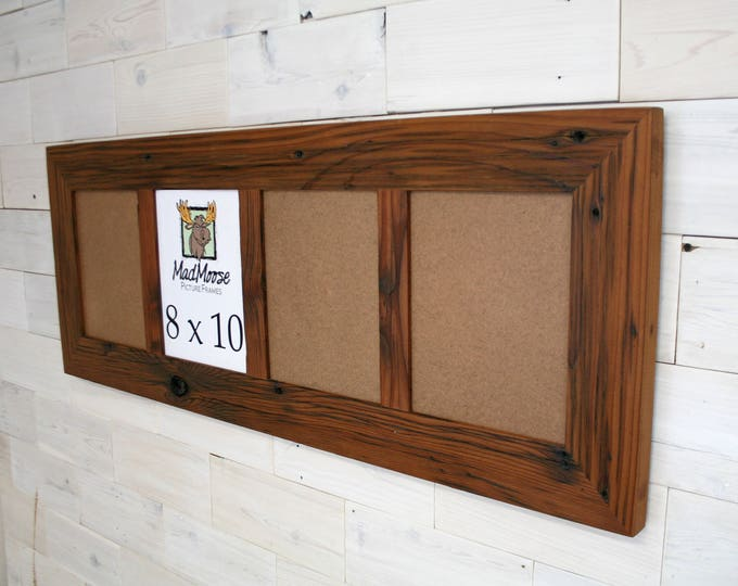 Multi pane Reclaimed Redwood Picture Frame - Classic 3"