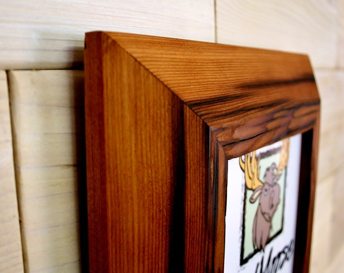 5x7 Reclaimed Redwood Picture Frame - Inclined 2""
