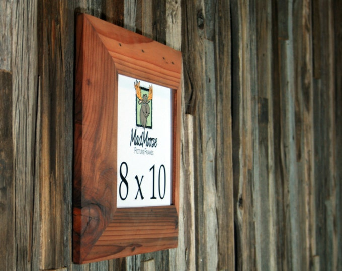8x10 Reclaimed Redwood Picture Frame - Inclined 3""