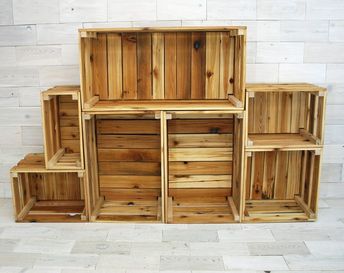 "Reclaimed Cedar Milk Crate 12"" tall | multiple size options"