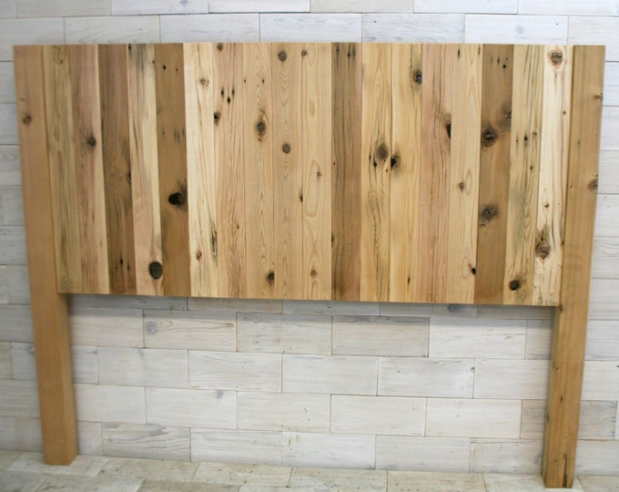 Reclaimed Wood Headboard with Posts | all bed sizes | Remilled Verizon Design