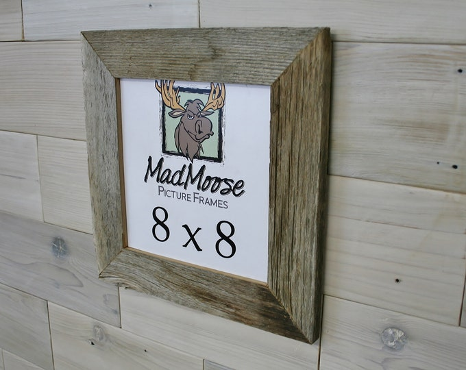 """8x8 BarnWood Picture Frame - Classic 2"""""""