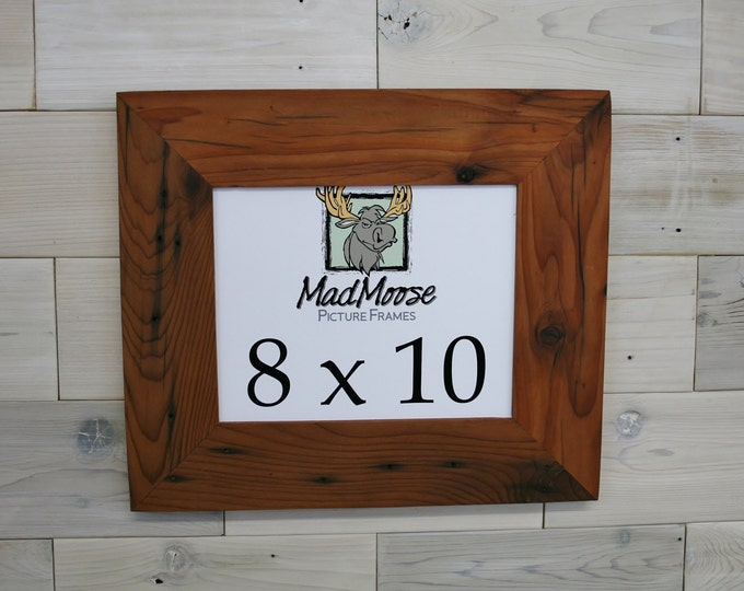 8x10 Reclaimed Redwood Picture Frame - Classic 3""