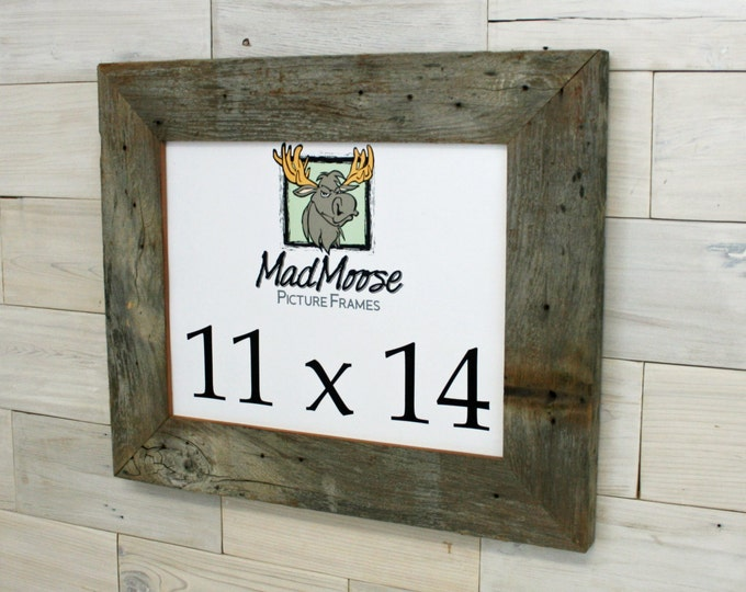 """11x14 Barn Wood Picture Frame Classic-3"""""""