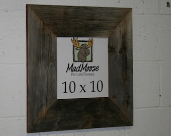 """10x10 BarnWood Picture Frame - Classic 5"""""""