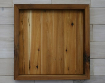 """Reclaimed Wood Shadow Box 20"""" x 20"""" x 2"""" with clear acrylic front"""