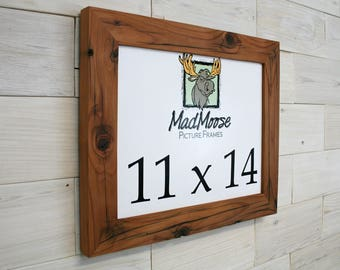 """11x14 Reclaimed Redwood Picture Frame - Classic 2"""""""