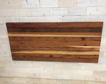 Reclaimed Redwood Hanging Headboard Panel | all bed sizes | Horizon Design