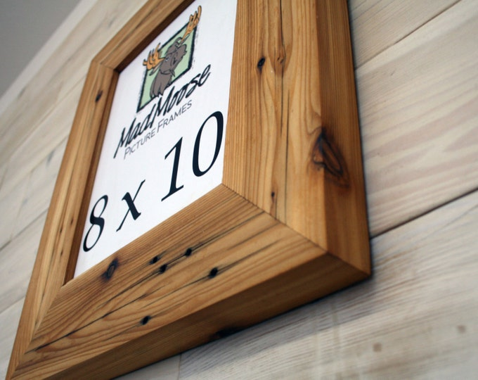 8x10 Reclaimed Wood Picture Frame - Classic 3""