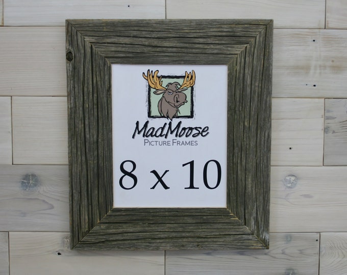 """8x10 Barn Wood Picture Frame Classic-3"""""""