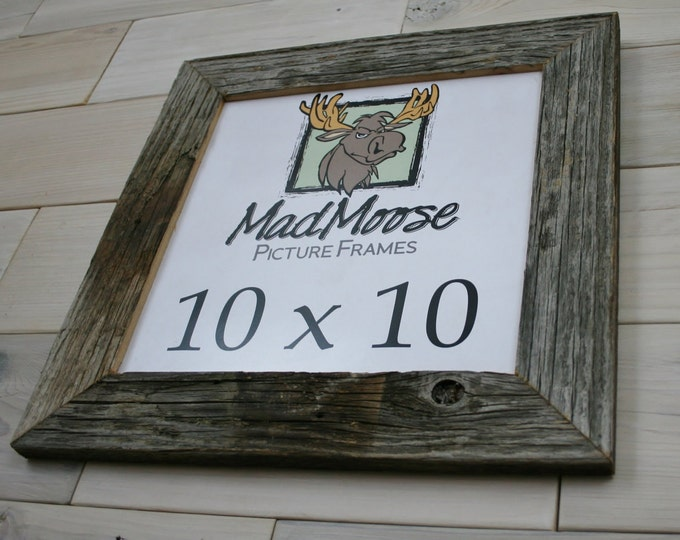 """10x10 Barn Wood Picture Frame - Classic 2"""""""