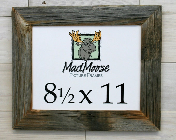 """8.5x11 Barn Wood Picture Frame - Classic 2"""""""
