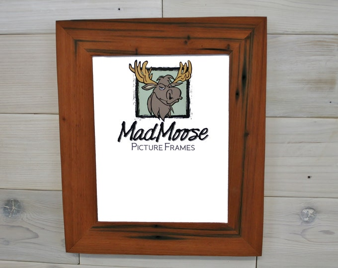 """8.5x11 Reclaimed Redwood Picture Frame - Classic 2"""""""