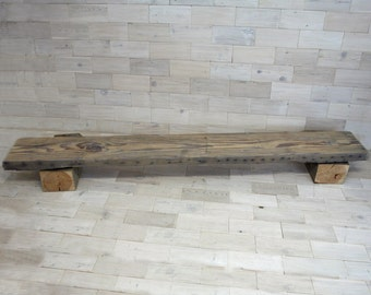 "Antique Fir Mantel / Shelf  with Chalk Finish 85.5"" x 11"" x 3"""