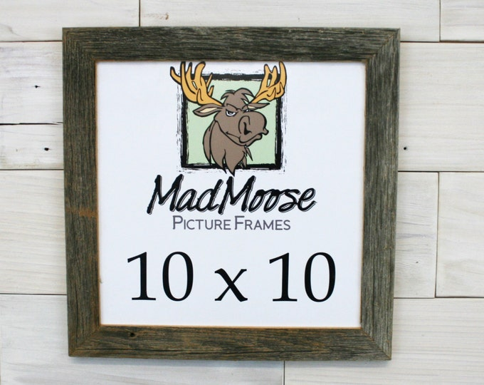 """10x10 BarnWood Picture Frame Classic-1.25"""""""