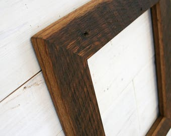 Antique Oak Picture Frame - Classic 2"