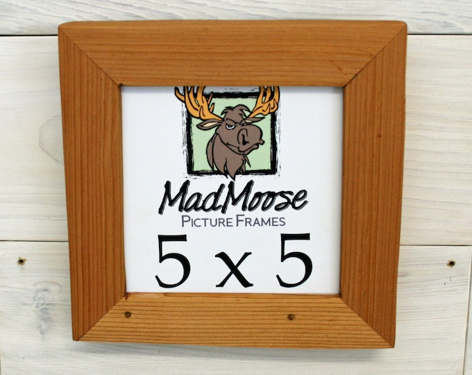 5x5 Reclaimed Wood Picture Frame - Classic 1.25""