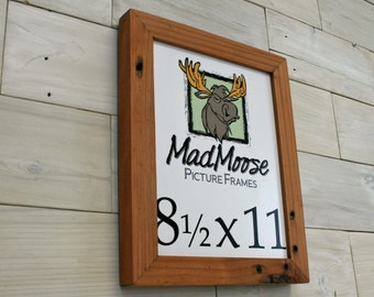 """8.5x11 Reclaimed Redwood Picture Frame - Classic 1.25"""""""