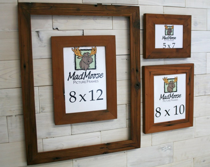 Reclaimed Redwood Picture Frame - Classic 5"