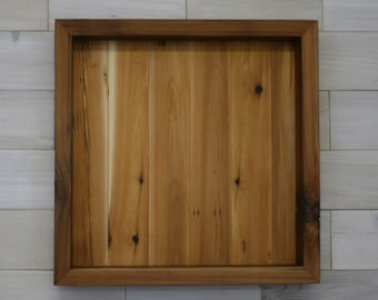 Reclaimed Wood Shadow Box 18 x 18 x 2 with open face