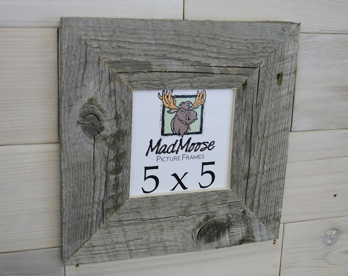"""5x5 BarnWood Picture Frame - Classic 3"""""""