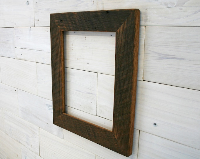 8x10 Antique Tobacco Oak Picture Frame - Classic 2""