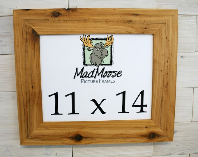 11x14 Reclaimed Wood Picture Frame - Classic 3""
